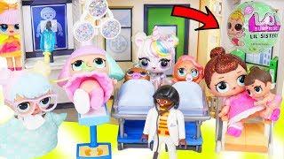 Download Custom Unicorns LOL Surprise Doll Takes Lil Sisters to Ambulance Hospital + McDonalds Drive Thru! Video