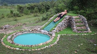 Download Build Water Slide and Stone Swimming Pool Underground Video