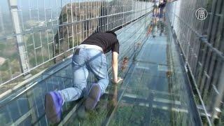 Download Самый длинный стеклянный мост в мире открылся в Китае (новости) Video
