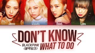 Download BLACKPINK - Don't Know What To Do (Color Coded Lyrics Eng/Rom/Han/가사) Video