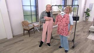 Download Denim & Co. Double Weave Straight-Leg Pants with Seaming Detail on QVC Video
