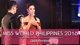 Download Miss World Philippines 2016 Q&A Portion! Video