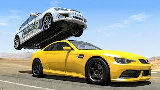 Download Crazy Police Chases #29 - BeamNG Drive Crashes Video