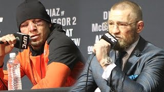 Download Nate Diaz Responds to Conor McGregor Saying Trilogy Fight at 155 lbs (UFC 202) Video