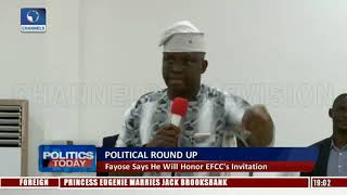 Download Political Round Up: Fayose Says He Will Honor EFCC's Invitation |Politics Today| Video