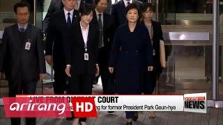 Download Arrest warrant hearing for former President Park Geun-hye ends Video