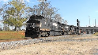 Download NS 118 pulls out of the siding in Stockbridge, Ga. Video