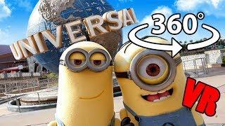 Download VR 360 Video Universal Studios Orlando Parade Inc Despicable Me Minions & Sponge Bob Video