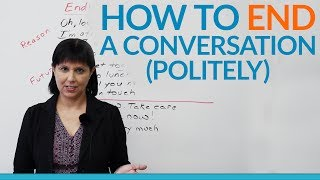 Download Conversation Skills - How to END a conversation politely Video