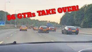 Download EPIC NISSAN GTR MEET: 56 GTRs TAKE OVER! Video