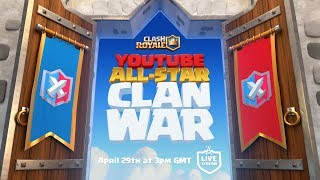 Download Clash Royale: YouTube All-Star 5v5 Clan War! Video
