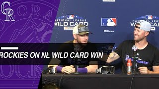 Download Rockies players, Black discuss team's win over Cubs Video