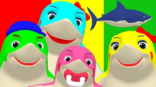 Download Finger Family Sharks Reggae | Animal Nursery Rhyme, Song for Babies & Toddlers Video