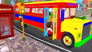 Download Autobusi   Wheels on the bus #001 Autobuzi kenge per femije shqip Video