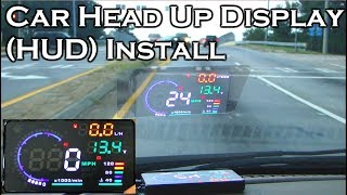 Download Car Head Up Display - A8 5.5″ OBDII HUD - Review and Install - GearBest Video