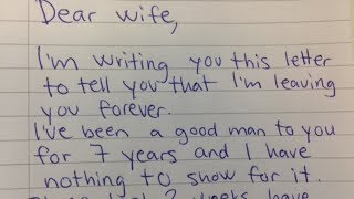 Download Husband Demands Divorce In Letter, His Wife Brilliant Reply Makes Him Regret Every Word Video