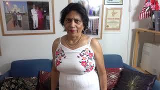 Download Aruna Sharma in Time & Tru Embroidered Maxi Dress, New Jersey NJ, USA at Uppsala home, Jan 13, 2019 Video
