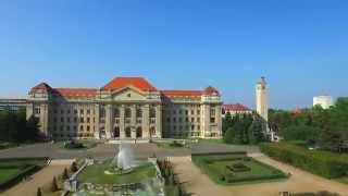 Download Bird's eye view of University of Debrecen Video