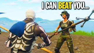 Download KID SAYS HE CAN BEAT ME IN A BUILD BATTLE ON FORTNITE! (Playground 1v1) Video