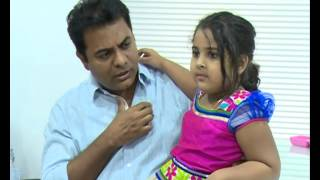 Download TRS Minister KTR with his Daughter Alekhya Exclusive Video