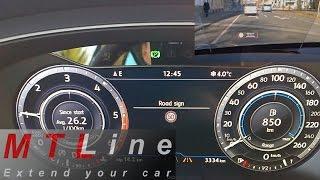 Download VW Tiguan 2 with HUD, MY2017 - Traffic Sign Assist activation - vključitev prepoznave prometnih znak Video