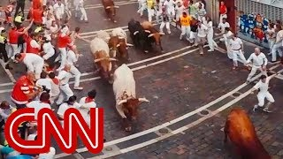Download Run with the bulls in Pamplona - 360 Video Video