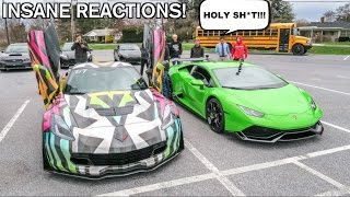 Download Driving My Lamborghini To High School! Funny Supercar Reactions! Video
