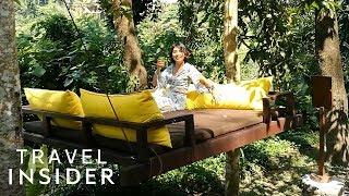 Download Sleep In A Swinging Outdoor Bed In BalI Video