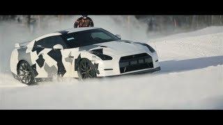 Download NISSAN GT-R Ski slope Video