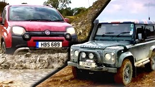 Download Can A Fiat Panda Cross Beat A Land Rover Defender? #TBT - Fifth Gear Video