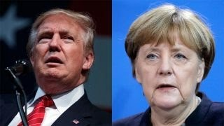Download Trump trades jabs with Germany's Merkel over refugee policy Video