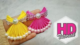 Download DIY - Cara Membuat Bros Baju || Bros Gaun || Tutorial Simple Kanzashi Video