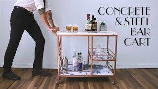 Download DIY Marble Concrete & Steel Bar Cart | GFRC | Modern Video
