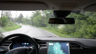 Download Tesla autopilot 1 at local twisting roads Video