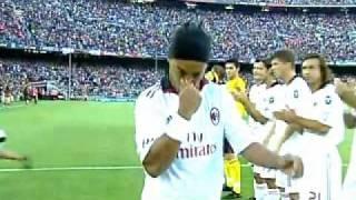 Download FC Barcelona Vs AC Milan - Ronaldinho Return of the King - 25/08/10 Video