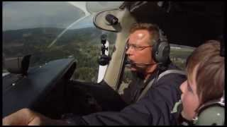 Download 10 year old pilot in a Cessna 172, Flight training, Part 1 Video