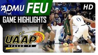 Download ADMU vs FEU | Final Four Game Highlights | UAAP 79 | November 26, 2016 Video