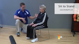 Download Sit to Stand Strengthening Exercise Video
