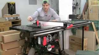 Download SawStop Contractor Saw Product Tour Video