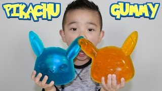 Download Making A Giant Pikachu Gummy Candy Sweets With CKN Toys Pokemon Go Candy Video