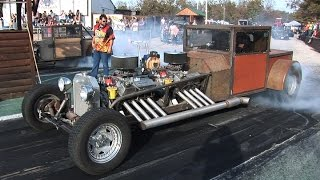 Download TWIN ENGINE RAT DRAG CAR - Ozark Raceway Park Video