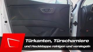 Download Türkanten Türscharniere, Gummidichtungen und Heckklappe reinigen und versiegeln Video