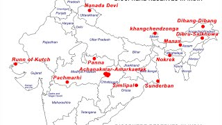 Download Biosphere Reserves in India on a map Video