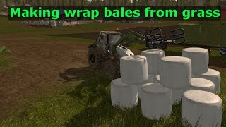 Download Farming simulator 2017 - Making grass silage, wrap bales - Uncommented Video