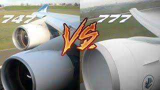 Download ENGINE SOUND BATTLE! Boeing 777 vs 747. Choose your Favourite!! Video