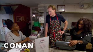Download Conan Works At Sylvia's Restaurant - CONAN on TBS Video
