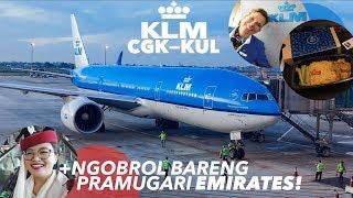 Download KLM Royal Dutch Airlines KL810 CGK-KUL Dapat Nasi Goreng Enak! + Ngobrol Bareng Crew EMIRATES! Video