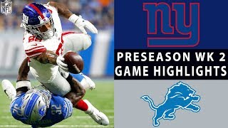Download Giants vs. Lions Highlights | NFL 2018 Preseason Week 2 Video