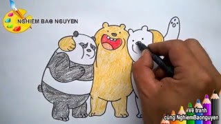 Download Vẽ tranh Những chú Gấu/How to Draw We Bare Bears Video