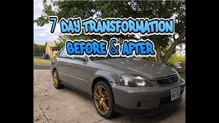 Download The transformation of the civic after 7 days (Still a work in progress) Video